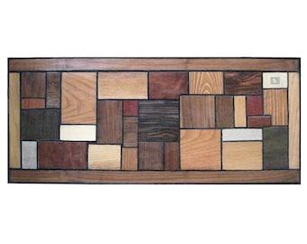 Brilliant Mid Century Styled Reclaimed Wood Wall Sculpture Modern Retro Eames era