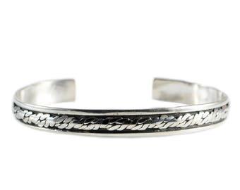 Vintage Bracelets, Sterling Silver Cuff, Sterling Silver Bracelet, Sterling Silver Jewelry, Stackable Bracelet, Adjustable Bracelet