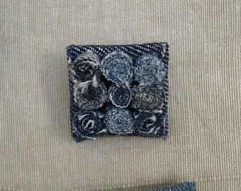 Square denim rolling pin