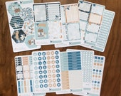 COOL LAGOON: Planner Sticker Kit |WITH Mission Board Headers | A5 - Quarterly or Bound | For use with inkWELL Press Planner | LucKaty