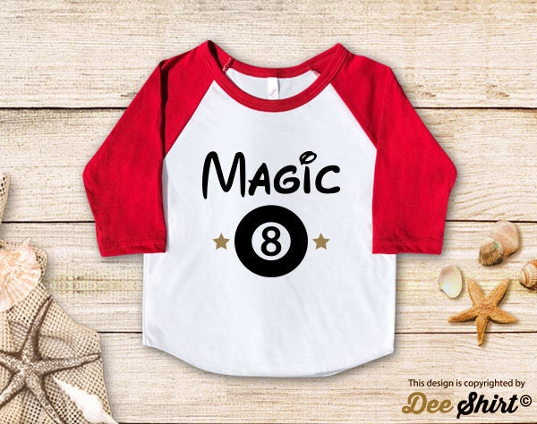 Eighth Birthday Shirt 8th T Magic Eight Ball Year