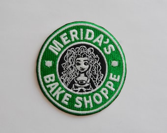 Merida Starbucks Coffee inspired patch, Disney patch, princess patch, Brave patch, Disney Starbucks, Cartoon patch, Sew on, Iron On