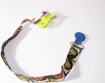 Dashiki pacifier holder pacifier clip African print pacifier holder binky clip-Cafe