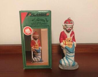 1987 Vintage Flambro Emmett Kelly Porcelain Christmas Ornament Vintage Clown