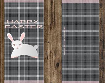 Easter Bunny Bar Wrappers for 1.5oz Hershey Bar- Easter bar Instant Digital Download