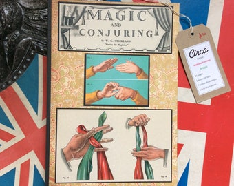 Handmade magic themed vintage journal/notebook/diary