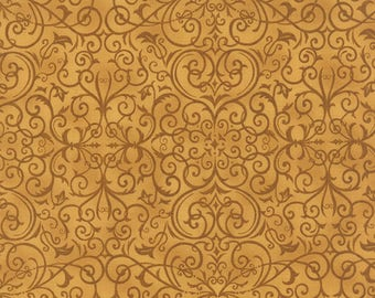 Moda REJOICE In The SEASON Quilt Fabric 1/2 Yard By Deb Strain - Gold  19763 13