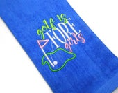 Personalize golf, towel women, gift for her, golf is fore girls, monogram towel, custom golf, monogrammed gift, personalized towel, women