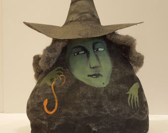 Maude with Snake Witch Soft Sculpture Primitive Doll