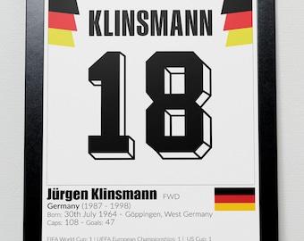 Germany Legends Poster Klinsmann Matthaus