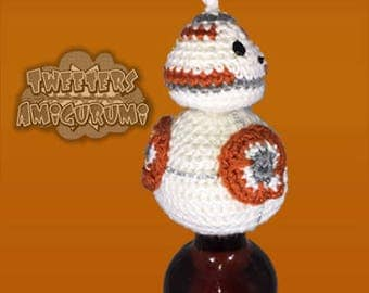 BB-8 (BB8) – Star Wars – The Force Awakens inspired Crochet Bottle Topper (Wine Topper)