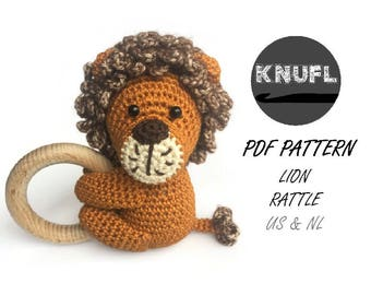 CROCHET PATTERN rattle Lion
