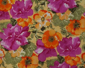 "Multicolor Fabric, Dress Material, Floral Print Fabric, Designer Fabric, 42"" Inch Cotton Fabric By The Yard ZBC6807E"