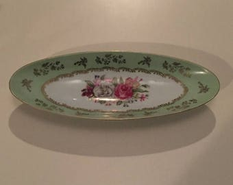 summer17 Arnart Relish Tray - Porcelaine - #2113 - Circa 1960's - Hand Painted