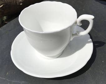 Vintage Crown Staffordshire Bone China Tea Cup & Saucer