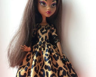NEW!!! Leopard dress for Monster High Doll!!