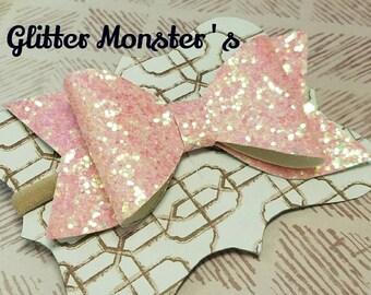 Princess Pink Glitter Bow, Glitter Bows, Pink Glitter Headbands, Pink Glitter Hair Bows, Baby Glitter Headband, Girls Hair Accessories