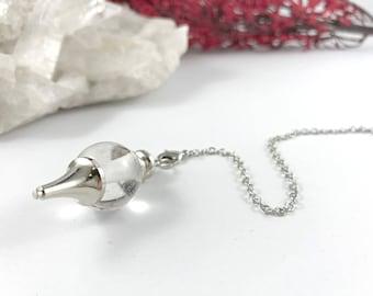 Pendulum, Crystal Quartz Pendulum, Reiki Charged Pendulum, Divination, Dowsing, Gemstone Pendulum, Pendulum Crystal, Pendulum Dowsing