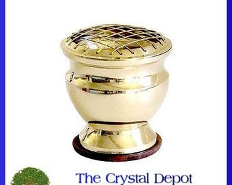 Brass brass screen incense burner / charcoal burner