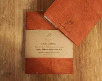 Handmade barkcloth sketchbook
