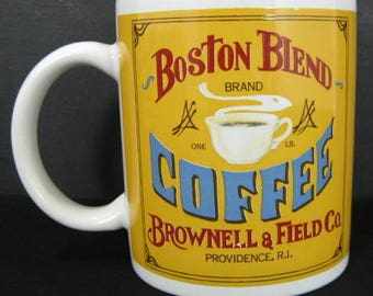 Providence RI Boston Blend Brand Coffee Cup B.I. Mug Brownell & Field Co.