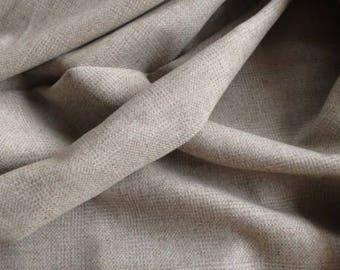 Beige Tweed Wool Fabric By The Yard