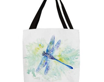 Blue Dragonfly  Tote