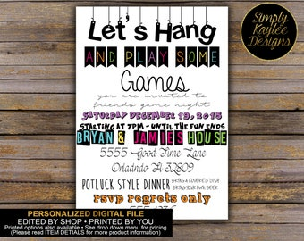 Game Night Birthday Invitation