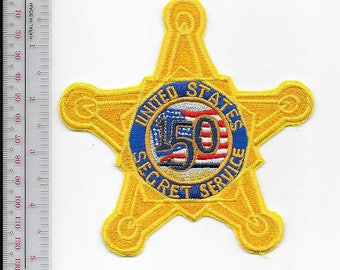 US Secret Service USSS Secret Service 150th Anniversary Gold Star Service Patch