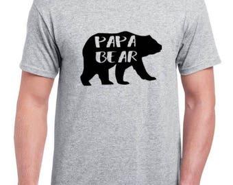 Papa bear shirt  Father's Day shirt mens shirts Father's Day gifts mens  dad life dad shirt dad present gift for new dad gift for dad gift