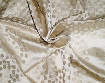KOPLAVITCH RETRO DOTS Lexie Satin Damask Fabric 10 Yards Ivory