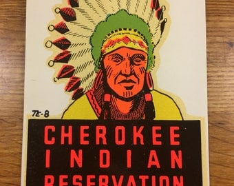 Cherokee Indian Reservation Water Decal