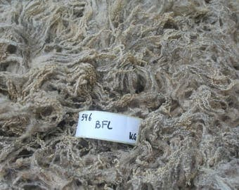 Blue Faced Leicester raw wool 0.6kg/1.32lb