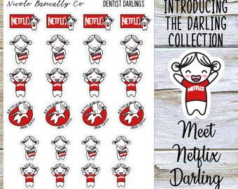 Netflix Darlings Planner Stickers