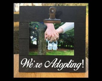 We're Adopting! - New Baby Announcement - Pregnancy Announcement Frame. We're expecting twins/triplets/baby surprise gift - Adoption