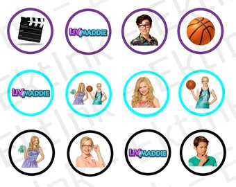 Digital Liv & Maddie Cake Cupcake Cookie Toppers Decorations [JPEG]