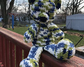 Stuffed Teddy Bear - Crochet Bear - ONLY ONE AVAILABLE