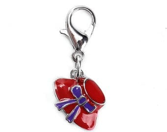 Red Hat Society Charm #2 - Clip-On - Ready to Wear