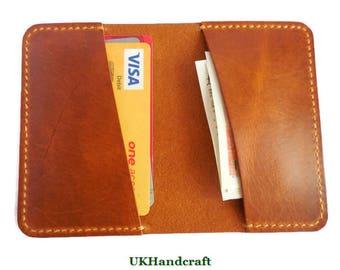 Distressed Leather Front Pocket Wallet, Minimalist Leather Card Wallet, Leather Card Holder, Mens Leather Wallet, Card Wallet, Card Holder