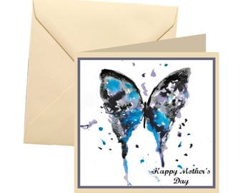 Animal Mothers day card, blank card, butterfly mothers day card, Mothers day card, Mothers day, butterfly card, butterfly card for mum