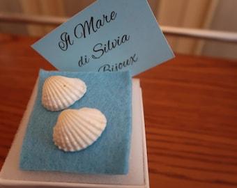 Seashell mermaid earrings