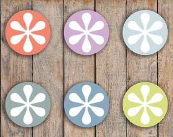 70 Asterisk / Important / Note / Important Circle Icon Stickers for 2018 inkWELL Press Planners IWP-Q49