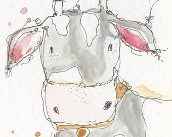 chuddy the cow 6x4 card