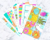 PRE-SALE! FOILED Tropic Like It's Hot Luxe Kit (Glam Planner Stickers for Erin Condren Life Planner)