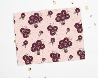 PRINTABLE Sheet - Bordeaux Blooms