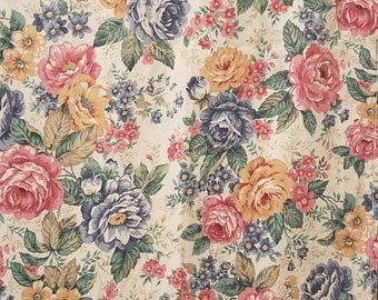 Queen flat sheet floral/roses free shipping U.S only