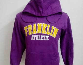 Vintage Franklin Marshall Athletic Hoody Jacket Size Small