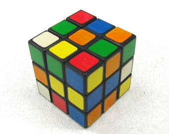 Rubik's cube, Rubic Magic cube, vintage toy from the 80s, puzzle game, old logic game, vintage brain game, developing toy, 3D puzzle cube