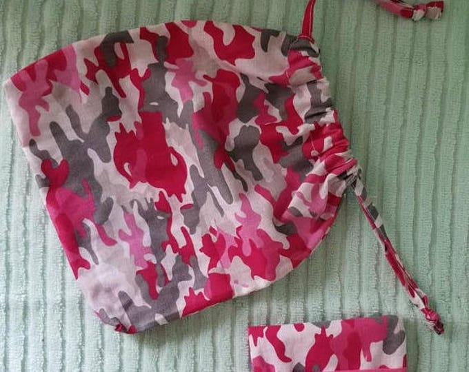 Pink camo Pouch & wallet set