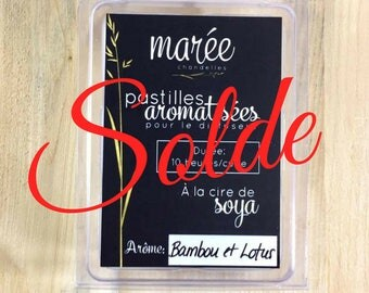 MOVING sale * bamboo and lotus - Pastilles flavored for diffuser eco-friendly soy wax